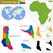 Comoros map Stock Illustration