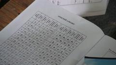 Arabic Learning By Russian Alphabet in Kiev - stock footage