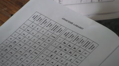 Arabic Learning By Russian Alphabet Stock Footage