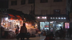 Market at Haridwar in Uttarakhand, India Stock Footage