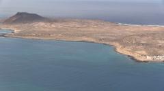 Spain - Lanzarote - Isla la Graciosa - Caleta del Sebo Stock Footage