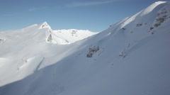 beautiful winter snowy mountains - stock footage