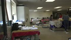 Waterfowl, pre examination room - stock footage