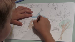 Paysage, landscape Drawing Stock Footage