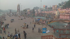 Clock Tower at Har Ki Pauri at Haridwar in Uttarakhand, India Stock Footage