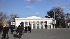 COUNT'S QUAY COLONNADE SEVASTOPOL CRIMEA UKRAINE Stock Footage