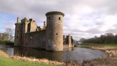 CAERLAVEROCK CASTLE, DUMFRIES, GALLOWAY, SCOTLAND 1 Stock Footage