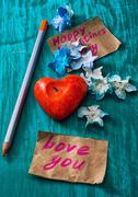 symbolic valentines day - stock photo