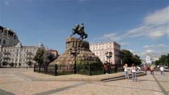 BOHDAN KHMELNYTSKY KYIV KIEV UKRAINE Stock Footage