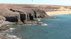 Spain - Lanzarote - Papagayo Beach Stock Footage