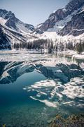 The lake pragser wildsee italy Stock Photos