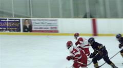 Pee Wee single A hockey game. 4K UHD Stock Footage