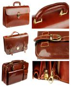 collection of briefcases - stock photo