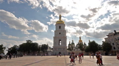 ST. SOPHIA CATHEDRAL BELL TOWER KYIV KIEV UKRAINE Stock Footage