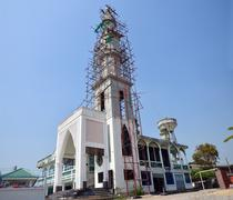 Construction and Build Mosque in Thailand Stock Photos