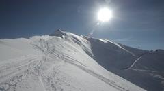 freeriders on summit - stock footage