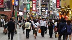 Time Lapse of Shibuya Shopping District Daytime - Tokyo Japan - stock footage