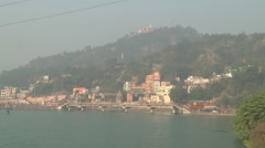 River Ganges and Haridwar in Uttarakhand, India Stock Footage