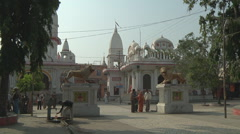 Entrance to the Pawan Dham Temple at Haridwar in Uttarakhand, India Stock Footage