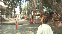 Pawan Dham Temple at Haridwar in Uttarakhand, India Stock Footage