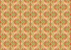 retro pattern on a brown background - stock illustration