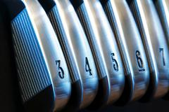 golf irons - stock photo