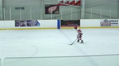 Penalty shot in hockey game. 4k Stock Footage