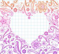Heart shape frame - stock illustration