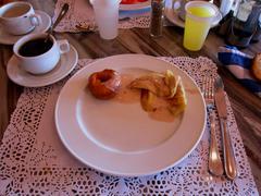 breakfast holidays - stock photo