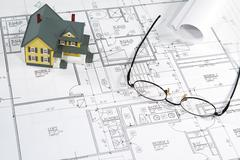 House blueprints Stock Photos