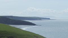 Vale of Glamorgan, Sutherndown, Cliffs over the Bristol Channel. Stock Footage