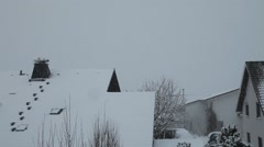 First Snow, Snowfall in Germany 6 - stock footage