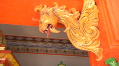 Sculpture in the Pawan Dham Temple at Haridwar, Uttarakhand, India Stock Footage
