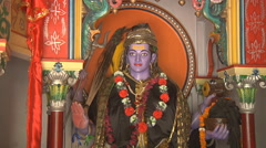 Statue in the Temple at Haridwar in Uttarakhand, India Stock Footage