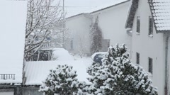 First Snow, Snowfall in Germany 5 - stock footage