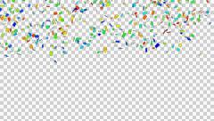 Confetti Animation effect Stock Footage