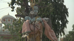 Statue in the Pawan Dham Temple at Haridwar in Uttarakhand, India Stock Footage