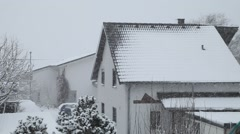 First Snow, Snowfall in Germany 4 - stock footage