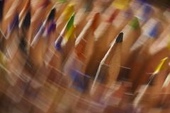 Edition rotating coloured pencils Stock Photos