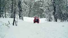 Wintertime Activities - stock footage