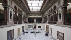 Royal Museums of Fine Arts of Belgium interior Stock Footage