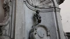 Manneken Pis in Brussels Belgium Stock Footage