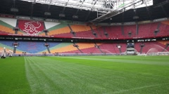 Amsterdam areena official home football stadium of the ajax Stock Footage