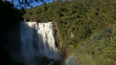 Waterfall in New Zealand Stock Footage