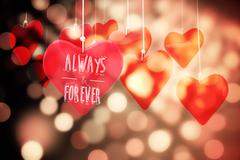 Composite image of always and forever - stock illustration
