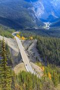 Icefields  Parkway in Alberta, Canada Stock Photos