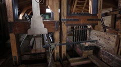 Wood cutting windmill in Zaanse Schans, Zaandam - stock footage