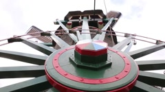 Closeup of a Dutch windmill in Zaanse Schans Stock Footage