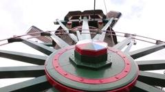 Closeup of a Dutch windmill in Zaanse Schans - stock footage