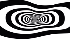 Concentric oncoming abstract symbol, foot - optical, visual illusion Stock Footage